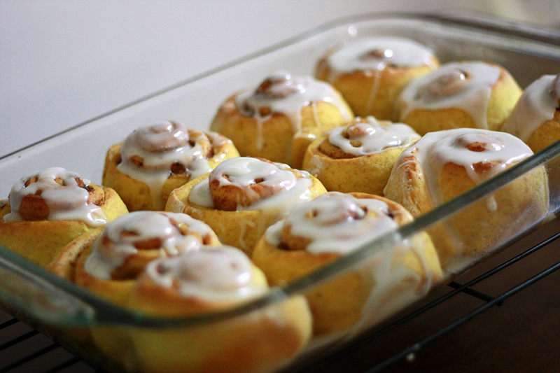 Runs With Spatulas: Pumpkin Cinnamon Rolls