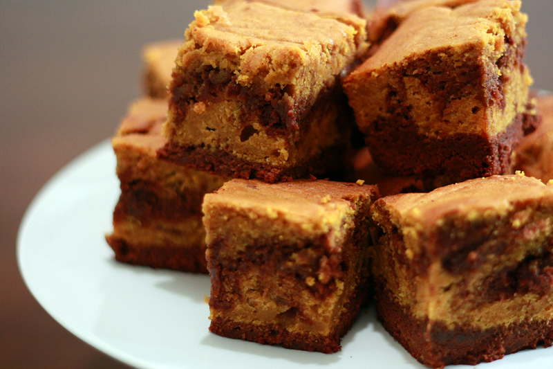 Runs With Spatulas: Pumpkin Swirl Brownies