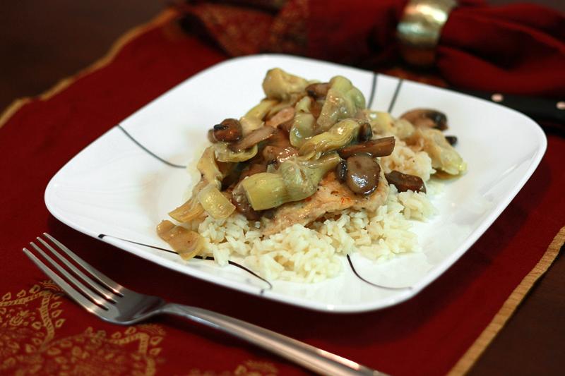 Runs With Spatulas: Chicken & Artichokes in a White Wine Sauce