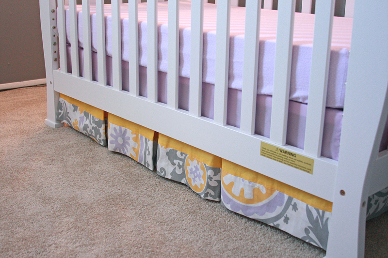 Runs With Spatulas Crafty Fridays How To Make A Pleated Crib Skirt Best Crib Skirt Pattern
