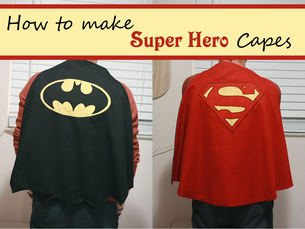 Runs with spatulas crafty fridays super hero capes for Diy superhero cape template